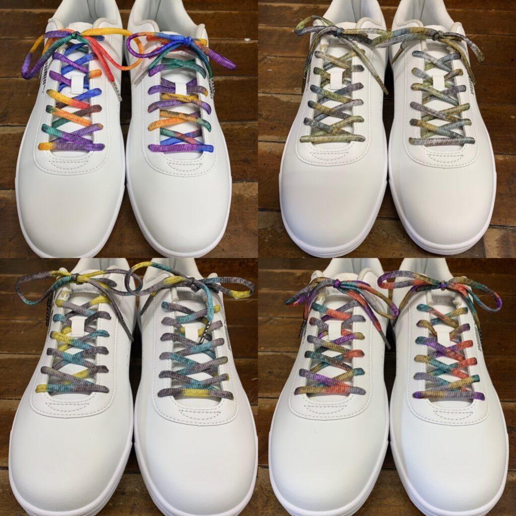 色はこれからも増えます カラフルな靴紐のカラーラインアップ