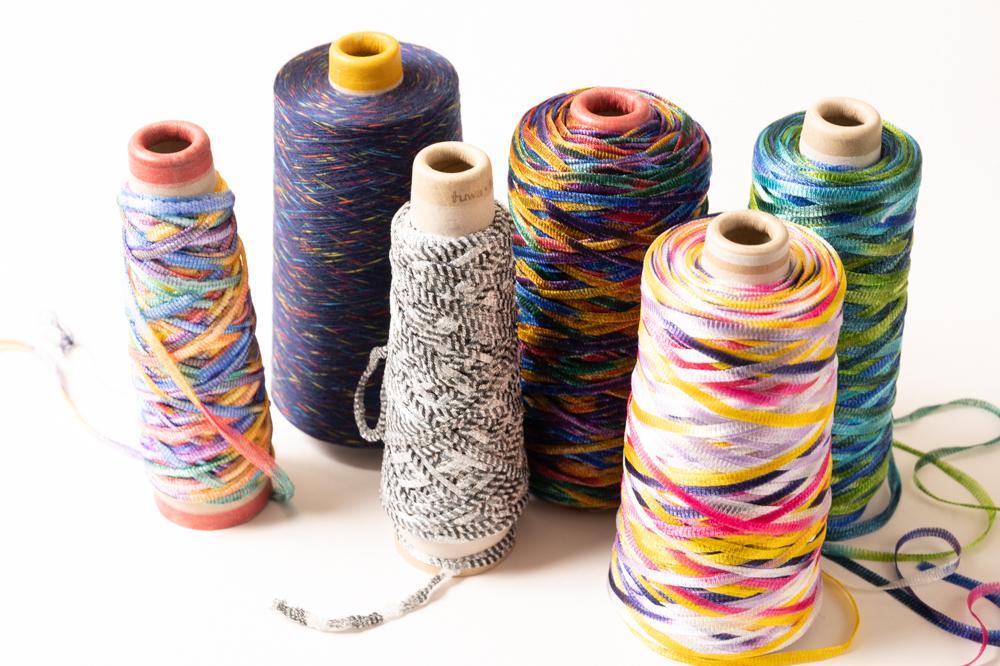 かすり染めの毛糸