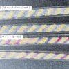 かすり染めマスクストラップは虹色、ブルーグレー、パープルゴールドの三色展開です。